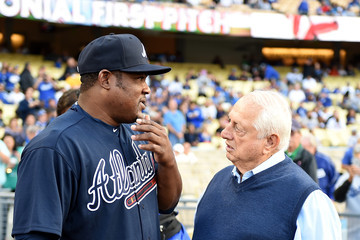 Tommy Lasorda Atlanta Braves v Los Angeles Dodgers