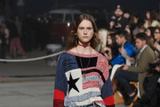 Model Julie Hoomans walks the runway at the TommyLand Tommy Hilfiger Spring 2017 Fashion Show on February 8, 2017 in Venice, California.