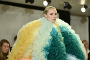 Gwendoline Christie walks the runway for the Tomo Koizumi fashion show during New York Fashion Week at Marc Jacobs Madison on February 8, 2019 in New York City.