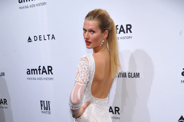Toni Garrn FIJI Water At amfAR New York Gala