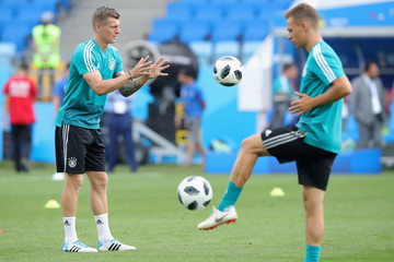 Toni Kroos Germany Training And Press Conference