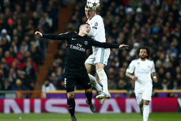 Toni Kroos Real Madrid v Paris Saint-Germain - UEFA Champions League Round of 16: First Leg
