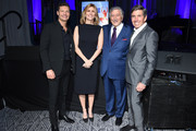 Ryan Seacrest joins Tony Bennett, Susan Benedetto and the evening's honoree Rich Bressler at the 11th Annual Exploring the Arts Gala hosted by Tony Bennett and Susan Benedetto at The Ziegfeld Ballroom on January 30, 2018 in New York City.