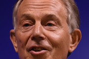Former British Prime Minister Tony Blair delivers a keynote speech at a pro-EU event on February 17, 2017 in London, England. Mr Blair claimed that people voted in the referendum without knowledge of the true terms of Brexit and urged people to change their minds and rise up against Brexit.