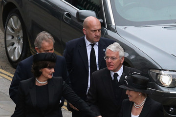 Tony Blair Norma Major Ceremonial Funeral Service for Margaret Thatcher 23