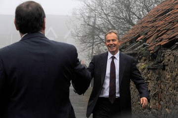 Phil Wilson Tony Blair Returns To Sedgefield To Join The Labour Party Election Fight