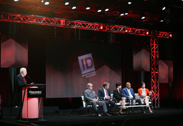2015 Summer TCA Tour - Day 3 [joe kenda,vice president of production,henry schleiff,sara kozak,chris hansen,candice delong,l-r,id,stage,event,theatre,performance,stage equipment,music venue,design,technology,display device,performing arts,summer tca,season]