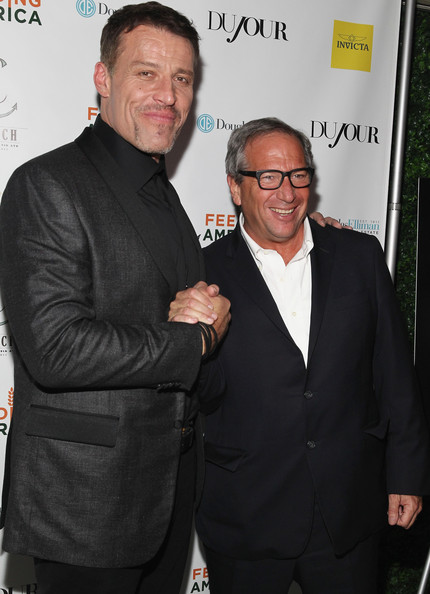 DuJour Magazine's Jason Binn, And Invicta Watches Welcome Tony Robbins To New York