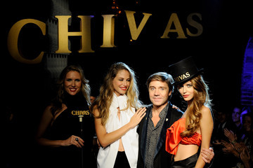 Baruc Corazon Top Models Attend Smoking Chivas Show in Madrid