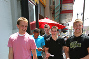 Cam Fowler, Emerson Etem, Brett Connolly, Tyler Seguin and Taylor Hall attend the Top NHL Draft Prospects At The Hollywood Walk of Fame on June 23, 2010 in Hollywood, California.