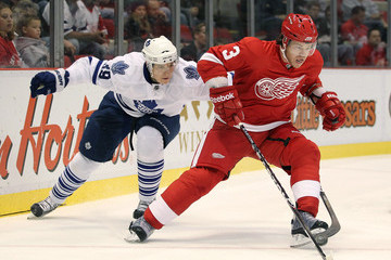 Garnet Exelby Toronto Maple Leafs v Detroit Red Wings