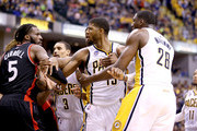 DeMarre Carroll and Paul George Photos Photo