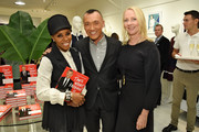 """June Ambrose, Joe Zee and Linda Wells attend the launch for """"That's What Fashion Is"""" by Joe Zee hosted by Tory Burch and Joe Zee at Tory Sport on October 13, 2015 in New York City."""
