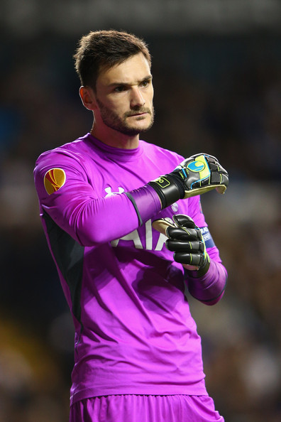Hugo Lloris of Spurs adjusts his gloves during the UEFA Europa League Group C match between Tottenham Hotspur FC and Besiktas JK at White Hart Lane on October 2, 2014 in London, United Kingdom.
