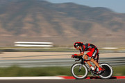 George Hincapie of the USA and riding for BMC Racing Team races to tenth place in the Individual Time Trial during Stage Three of the Tour of Utah at the Miller Motorsports Park on August 12, 2011 in Tooele, Utah.