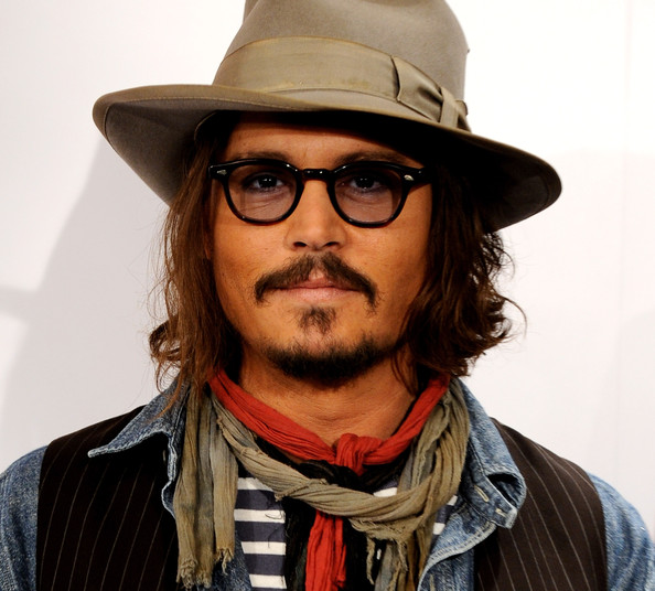 10 Celebrity Hipsters Johnny Depp Zimbio