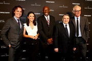 Jay Fielden, Julia Louis-Dreyfus, Geoffrey Canada, William Louis-Dreyfus and Brad Hall attend the T&C Philanthropy Summit with screening of 'Generosity Of Eye' at Lincoln Center with Town & Country on May 28, 2014 in New York City.