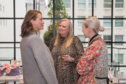 Christy Turlington Burns (L) and Kristen Cole attend philanthropic luncheon at Forty Five Ten on October 29, 2019 in Dallas, Texas.
