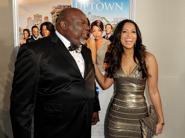 ... in this photo tracey edmonds t d jakes executive producer bishop