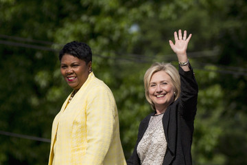 Traci Blackmon Democratic Presidential Candidate Hillary Clinton Attends Community Meeting in Florissant, MO