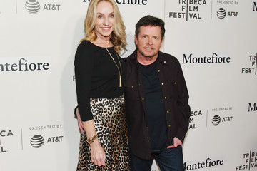 Tracy Pollan Tribeca Talks - Storytellers - Michael J. Fox With Denis Leary - 2019 Tribeca Film Festival