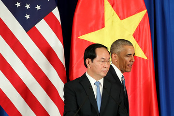 Tran Dai Quang President Ombama on an Historic Visit to Vietnam