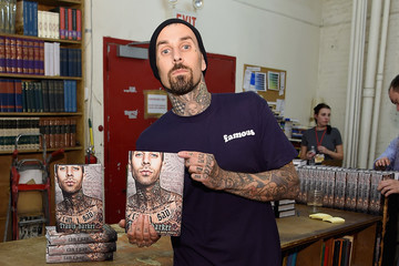 Travis Barker Travis Barker Signs Copies Of His Book 'Can I Say: Living Large, Cheating Death, and Drums, Drums, Drums'
