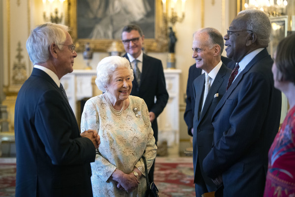 The Queen Hosts Reception To Mark The Work Of The Queen's Trust [mark the work of the queens trust,event,community,ceremony,religious institute,cathedral,elizabeth ii,trevor mcdonald,alan reid,trustee,chairman,the queens trust,charity,queen hosts reception,talks]