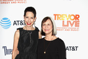 CEO of The Trevor Project Abbe Land (L) and founder of The Trevor Project Peggy Rajski attend The Trevor Project's 2016 TrevorLIVE LA at The Beverly Hilton Hotel on December 4, 2016 in Beverly Hills, California.