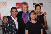 (L-R) James Lecesne, Sir Ian McKellen, Peggy Rajski and Abbe Land attend TrevorLIVE New York honoring Sir Ian McKellen, Representative Ryan Fecteau and Johnson & Johnson for the Trevor Project presented by Wells Fargo and Kevin Potter on June 15, 2015 in New York City.