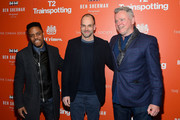 "(L-R) Actors Jon Michael Hill, Jonny Lee Miller and Aidan Quinn attend a TriStar and Cinema Society screening of ""T2 Trainspotting"" at Landmark Sunshine Cinema on March 14, 2017 in New York City."