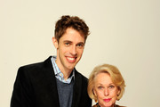 Director Jay Gammill and actress Tippi Hedren of the film 'Free Samples' visit the Tribeca Film Festival 2012 portrait studio at the Cadillac Tribeca Press Lounge on April 21, 2012 in New York City.