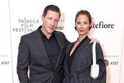 """Actor, writer and director Ed Burns and wife, model and activist Christy Turlington attend the premiere of """"Summertime"""" with Tribeca Talks: Storytellers during the 2018 Tribeca Film Festival at BMCC Tribeca PAC on April 27, 2018 in New York City."""
