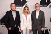Show creator Harry Williams, actress Joanne Froggatt and show creator Jack Williams attend the Tribeca TV Festival screening of LIAR on September 23, 2017 in New York City.