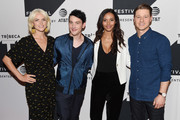 (L-R) Erin Richards, Robin Lord Taylor, Jessica Lucas and Ben McKenzie attend the Tribeca TV Festival sneak peek of Gotham at Cinepolis Chelsea on September 23, 2017 in New York City.