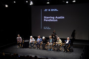 Austin Pendleton, Bob Balaban, Olympia Dukakis, Denis O'Hare, George Morfogen and Wallace Shawn speak on stage at the Tribeca Talks After The Movie: Starring Austin Pendleton at SVA Theatre 2 on April 21, 2016 in New York City.