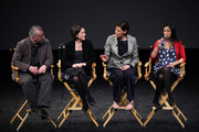 """(L-R) Producer Michael Morris, producer Tracy O'Riordan, director Clio Barnard and  actress Manjinder Virk speak at Tribeca Talks: """"The Arbor"""" during the 2010 Tribeca Film Festival at the School of Visual Arts Theater on April 28, 2010 in New York City."""