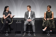 (L-R)  Actress Julianna Margulies, actor Matt Czuchry,  actress Cush Jumbo speak on stage during Tribeca Tune In: The Good Wife at BMCC John Zuccotti Theater on April 17, 2016 in New York City.