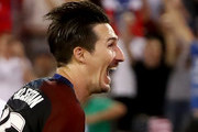 Sacha Kljestan #16 of the United States reacts to a goal during the FIFA 2018 World Cup Qualifier against Trinidad &Tobago at EverBank Field on September 6, 2016 in Jacksonville, Florida.