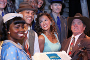 (L-R) Adepero Oduye, Cuba Gooding Jr., Vanessa Williams, Tom Wopat and cast attend 'The Trip To Bountiful' 100th Performance Celebration at Stephen Sondheim Theatre on July 23, 2013 in New York City.