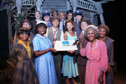 (L-R) Adepero Oduye, Cuba Gooding Jr., Vanessa Williams, Tom Wopat, Cicely Tyson and the cast attend 'The Trip To Bountiful' 100th Performance Celebration at Stephen Sondheim Theatre on July 23, 2013 in New York City.