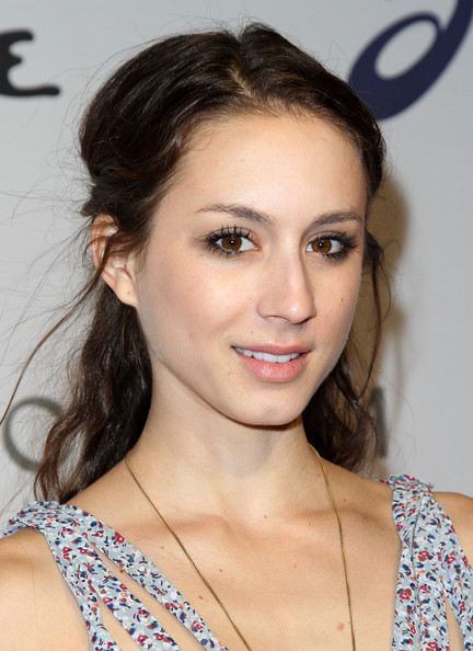 Troian Bellisario Actress Troian Bellisario arrives at the Oceana benefit at Esquire House LA on November 13, 2010 in Los Angeles, California.