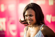 Miranda Tapsell arrives at  Tropfest at Centennial Park on February 14, 2016 in Sydney, Australia.