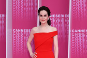 "Michelle Dockery attends the Launch of the Official Competition and ""The Truth About The Harry Quebert Affair"" screening during the 1st Cannes International Series Festival at Palais des Festivals on April 7, 2018 in Cannes, France."