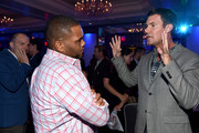 Comedian Paul Scheer, comedian Anthony Anderson and TV personality Jeff Lewis attend Tune In! Variety's TV Summit at Intercontinental Century City on August 6, 2014 in Century City, California.