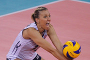 Jordan Larson- Burbach of USA in action during the FIVB Women's World Championship pool F match between Turkey and USA on October 1, 2014 in Modena, Italy.