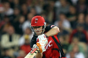 Daniel Harris of the Redbacks bats during the Twenty20 Big Bash Final match between the South Australian Redbacks and the New South Wales Blues at Adelaide Oval on February 5, 2011 in Adelaide, Australia.