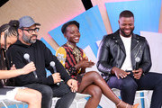 (L-R) God-is Rivera, Jordan Peele, Lupita Nyong'o and Winston Duke at the #TwitterHouse for a conversation with the cast of 'Us' during SXSW on March 8, 2019 in Austin, Texas.