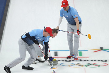 Tyler George Curling - Winter Olympics Day 7