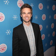 "Tyler Hilton In Celebration Of ""It's A Wonderful Lifetime,"" Stars Of The Network's Christmas Movies Attend The VIP Opening Night Of The Life-sized Gingerbread House"